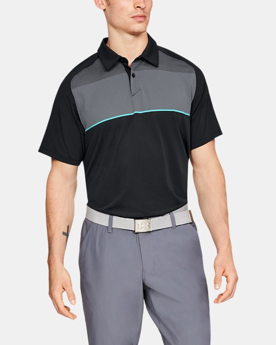 Men's UA Threadborne Infinite Polo, Black, pdpMainDesktop image number 0