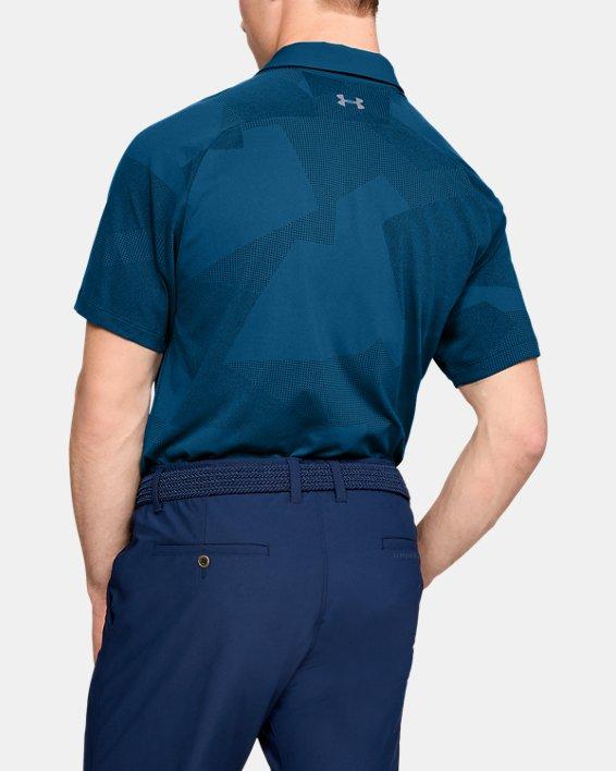Men's UA Threadborne Limitless Polo, Blue, pdpMainDesktop image number 2