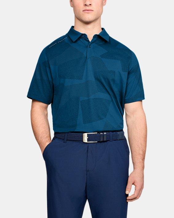Men's UA Threadborne Limitless Polo, Blue, pdpMainDesktop image number 1