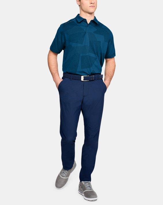 Men's UA Threadborne Limitless Polo, Blue, pdpMainDesktop image number 0