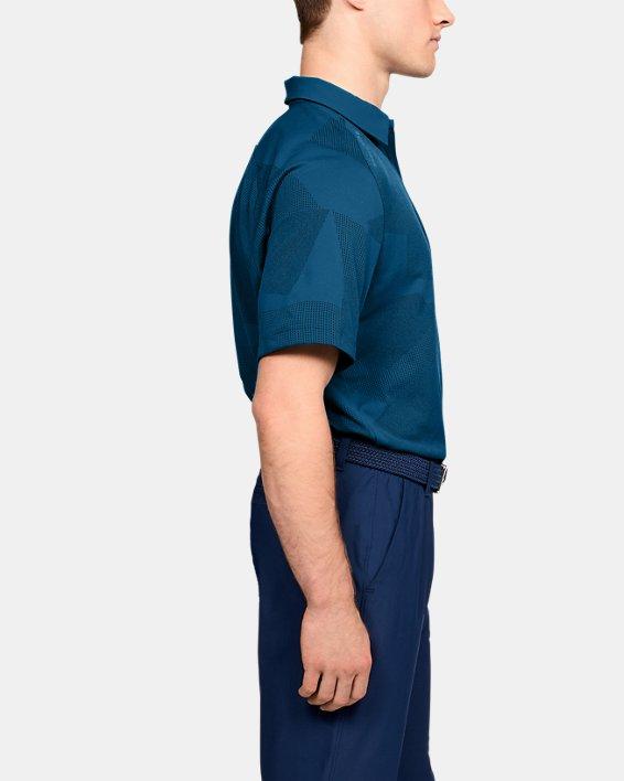 Men's UA Threadborne Limitless Polo, Blue, pdpMainDesktop image number 3