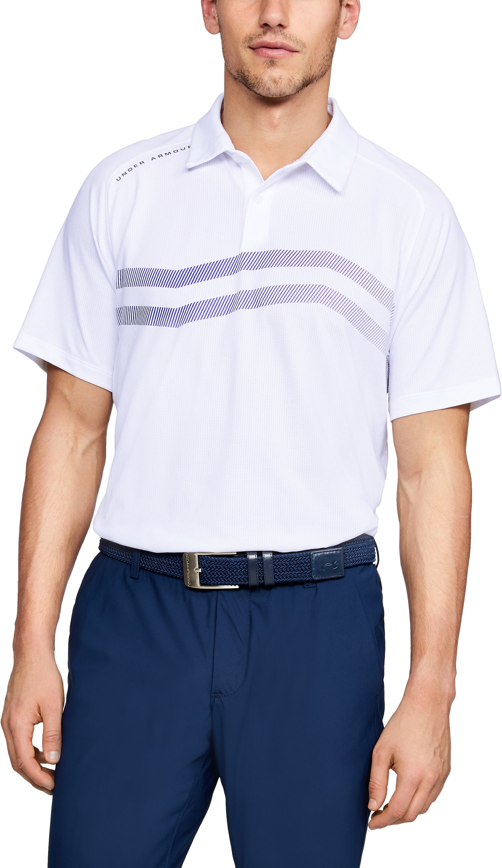 Men's UA Threadborne SpringBack Polo, White,