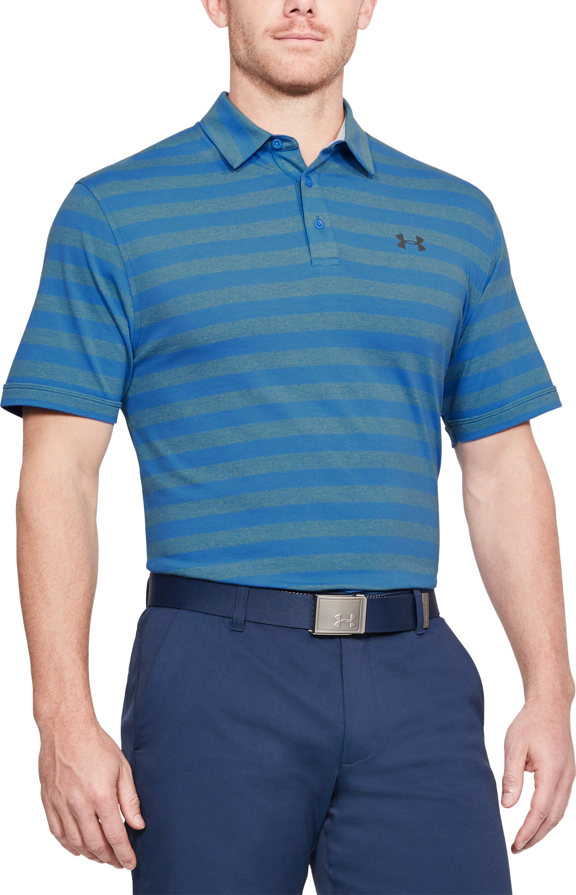 Men's Charged Cotton® Scramble Stripe Polo, Mediterranean