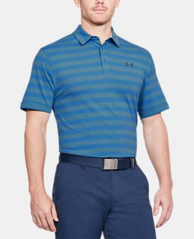 Men's Charged Cotton® Scramble Stripe Polo  4 Colors $50