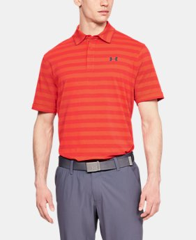 Men's Charged Cotton® Scramble Stripe Polo FREE U.S. SHIPPING 5  Colors Available $50