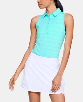 Women's UA Zinger Sleeveless Printed Polo  1  Color Available $70