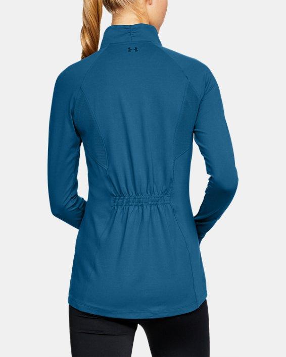 Women's UA Zinger Full Zip, Blue, pdpMainDesktop image number 2