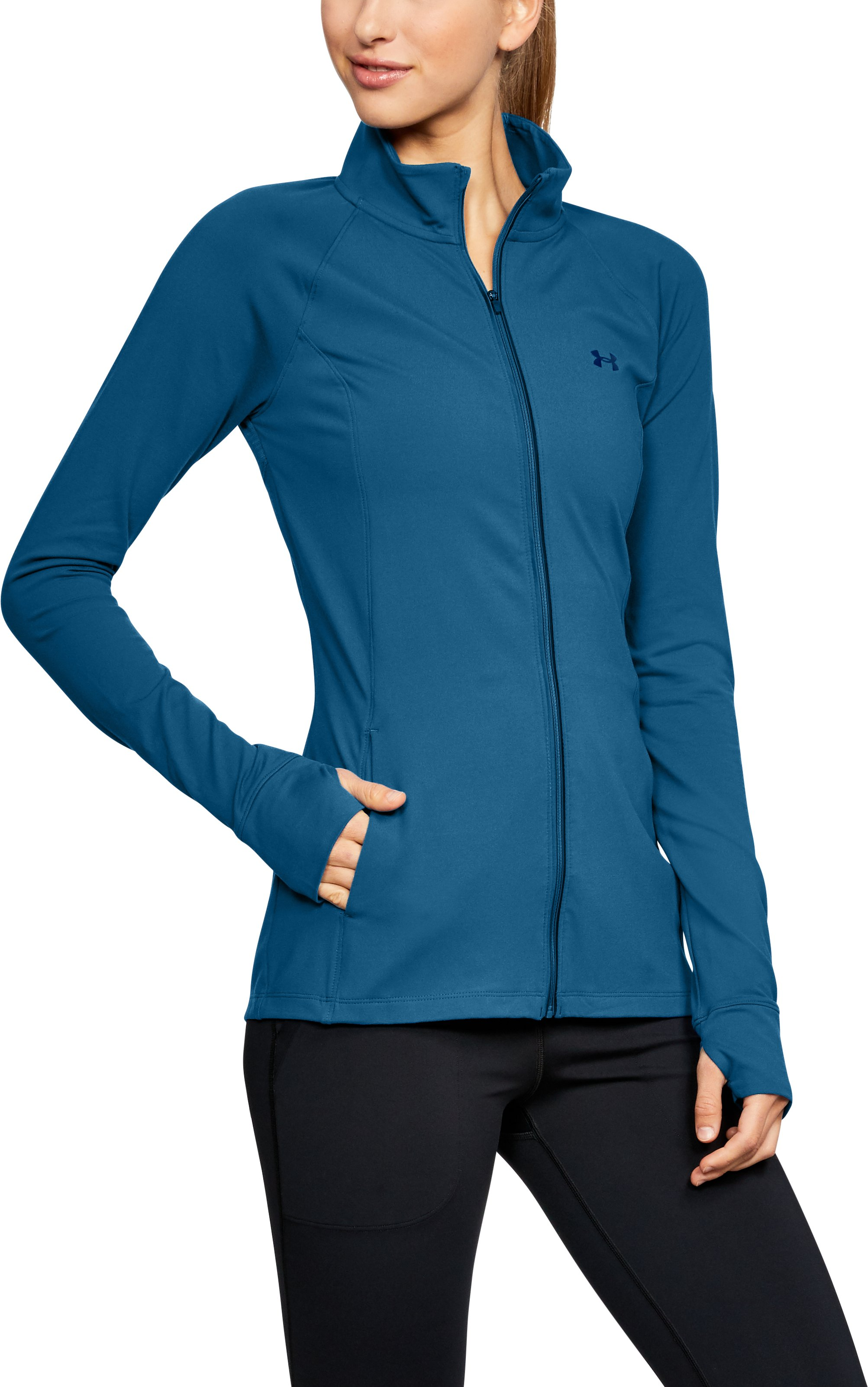Women's UA Zinger Full Zip, MOROCCAN BLUE