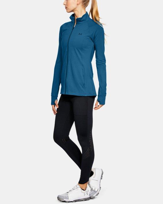 Women's UA Zinger Full Zip, Blue, pdpMainDesktop image number 1