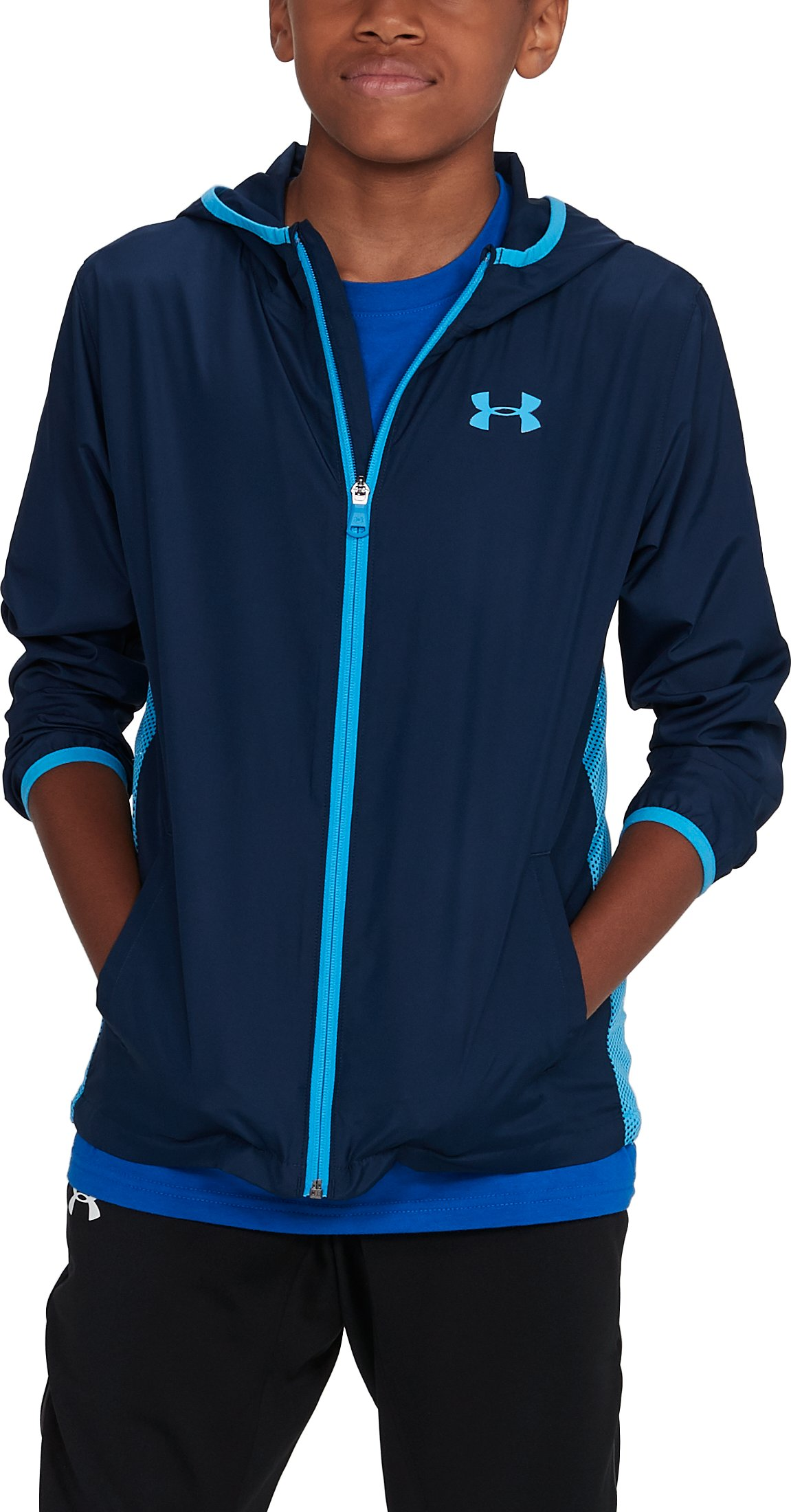 Boys' UA Sackpack Jacket, Academy,