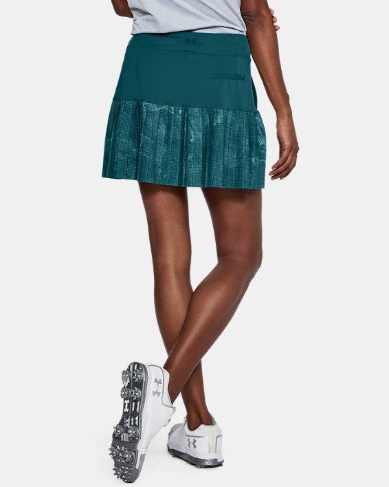Women's UA Links Knit Skort, Green, pdpMainDesktop image number 2