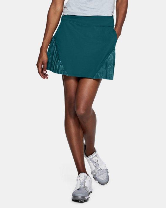 Women's UA Links Knit Skort, Green, pdpMainDesktop image number 0