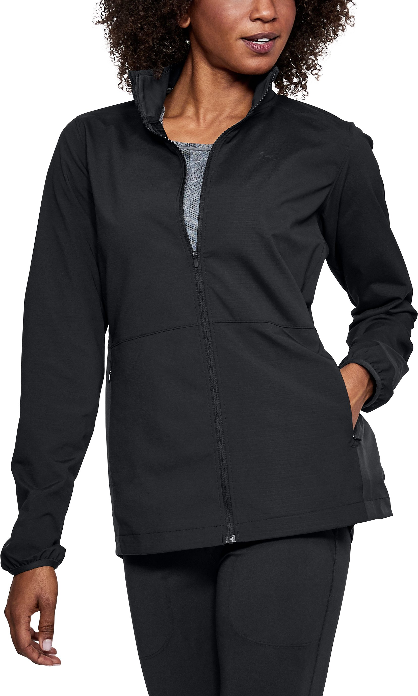 Women's UA Windstrike Full Zip Jacket, Black