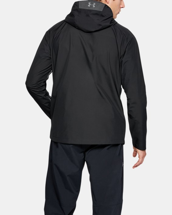 Men's UA Roam Paclite Jacket, Black, pdpMainDesktop image number 2