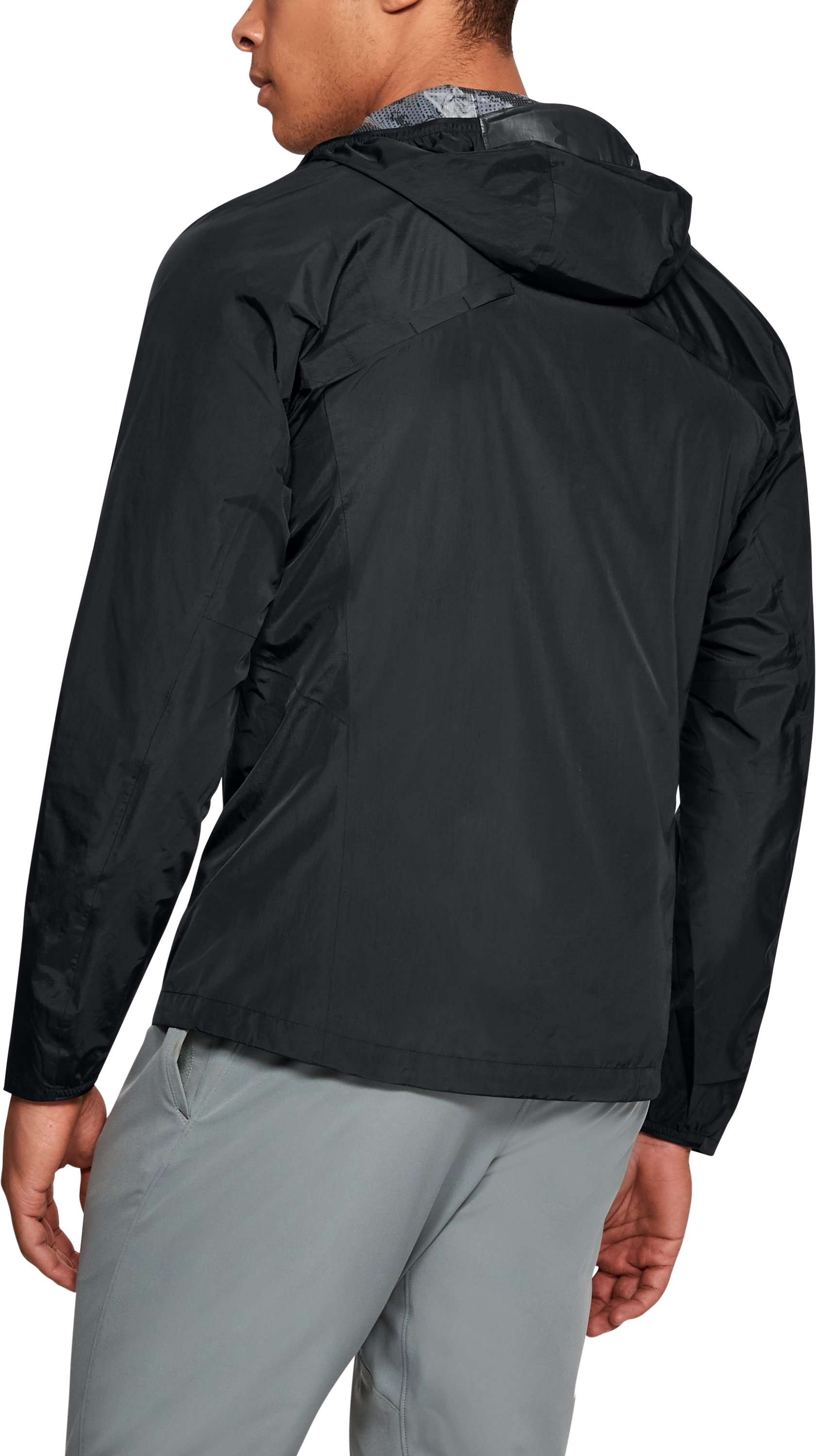 Men's UA Scrambler Jacket, Black ,
