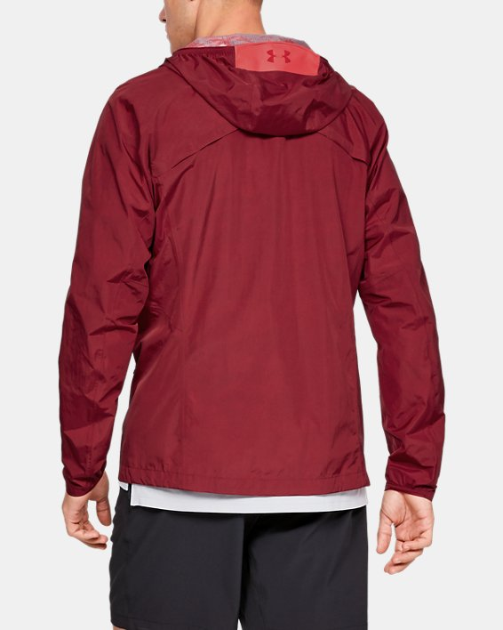 Men's UA Scrambler Jacket, Red, pdpMainDesktop image number 2