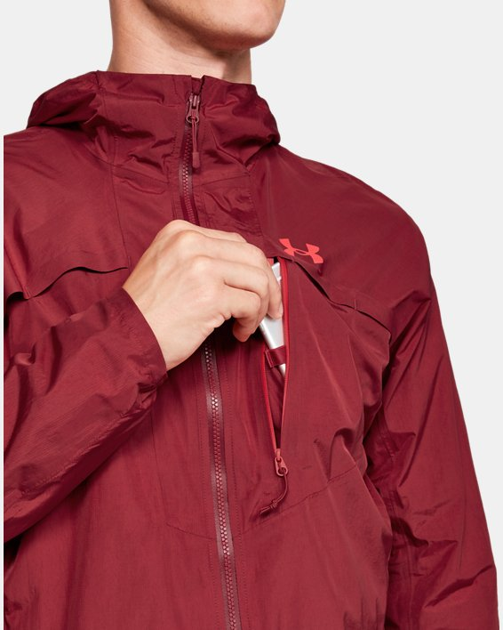 Men's UA Scrambler Jacket, Red, pdpMainDesktop image number 5