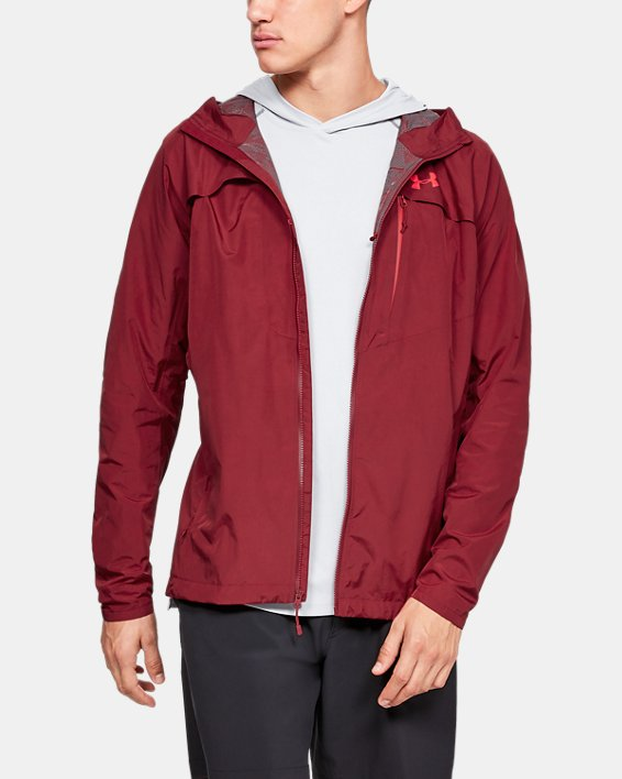 Men's UA Scrambler Jacket, Red, pdpMainDesktop image number 0