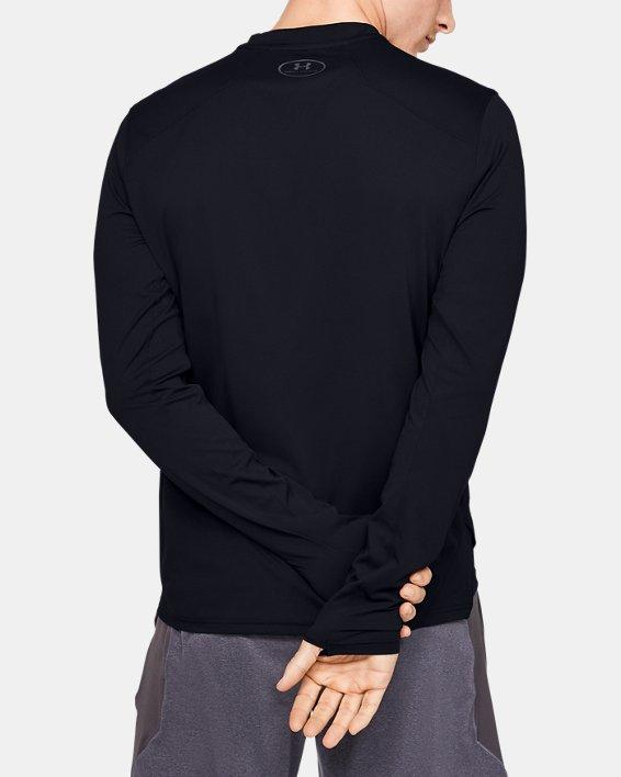 Men's UA Sunblock Long Sleeve, Black, pdpMainDesktop image number 2