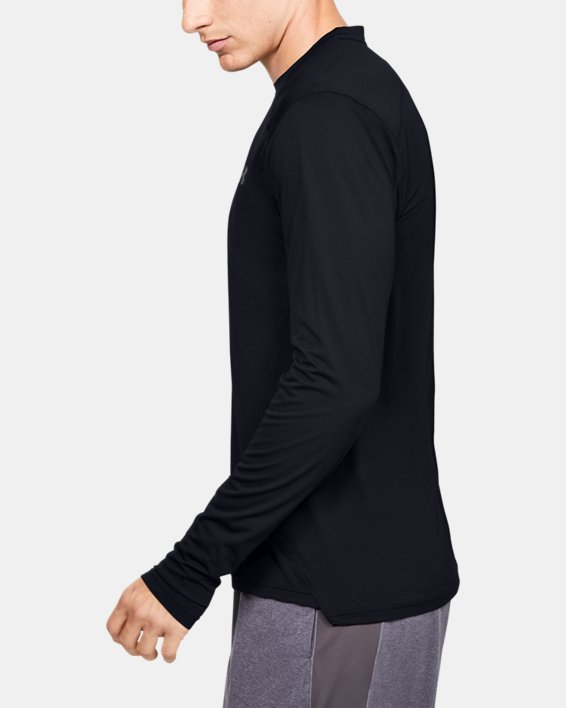 Men's UA Sunblock Long Sleeve, Black, pdpMainDesktop image number 3