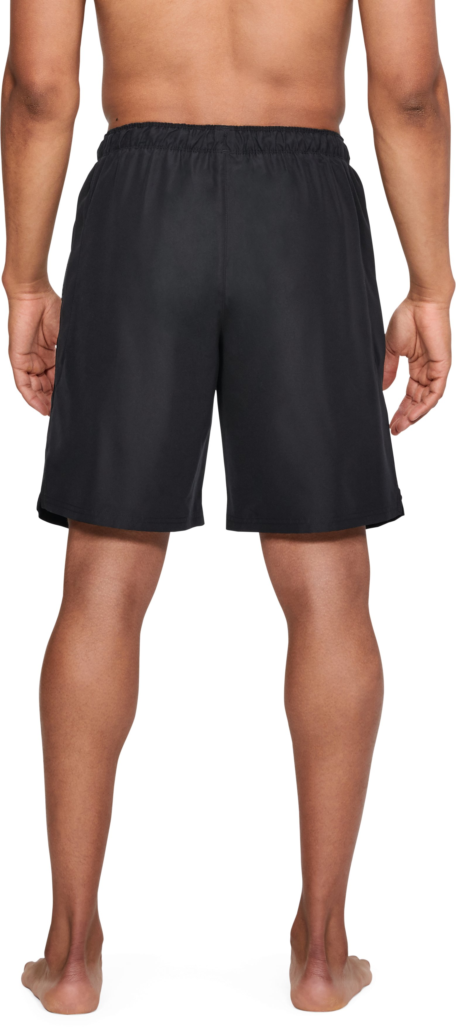 Men's UA Mania Volley Boardshorts, Black ,
