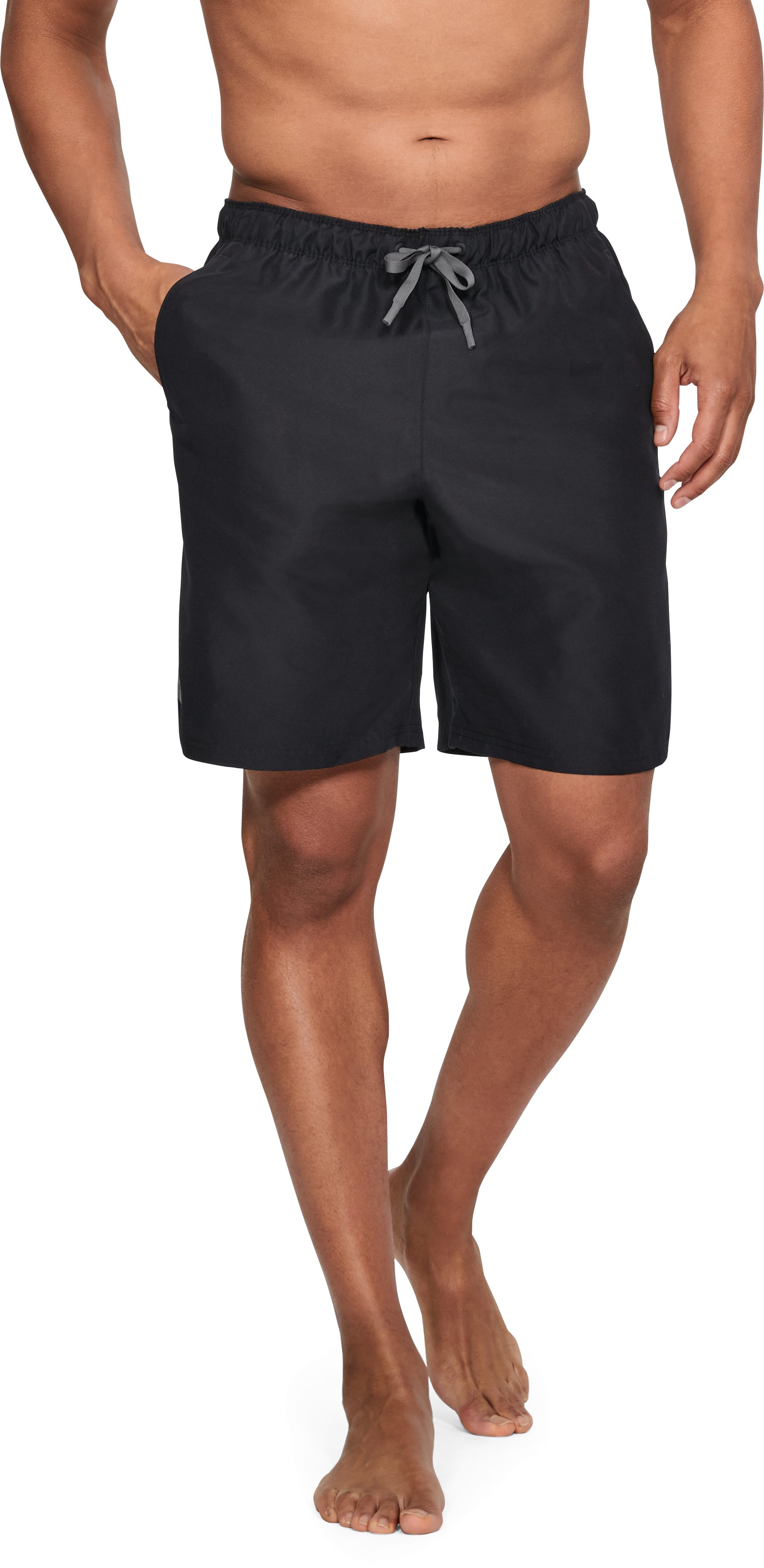 Men's UA Mania Volley Boardshorts, Black