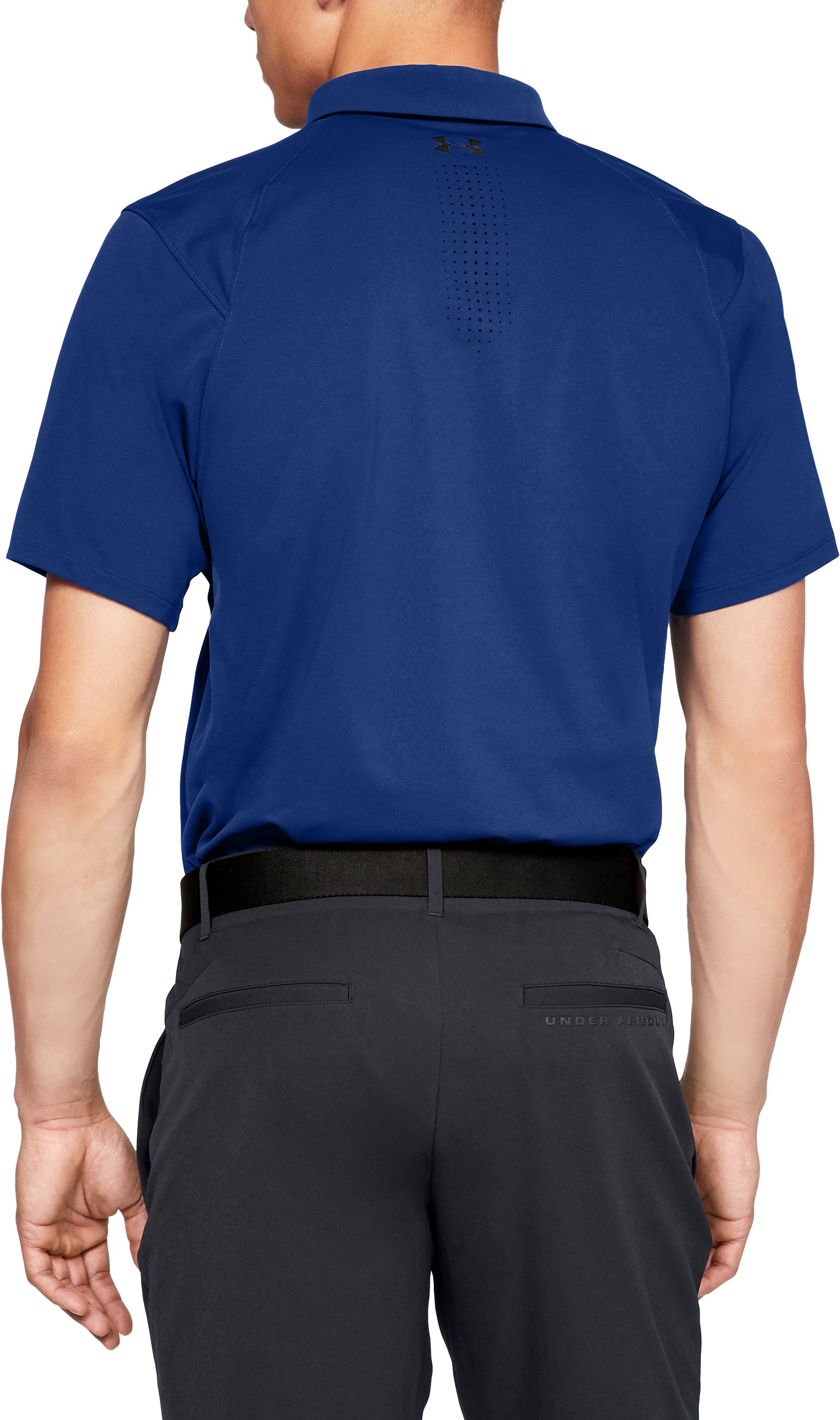 Men's UA Perpetual Woven Polo, FORMATION BLUE, undefined