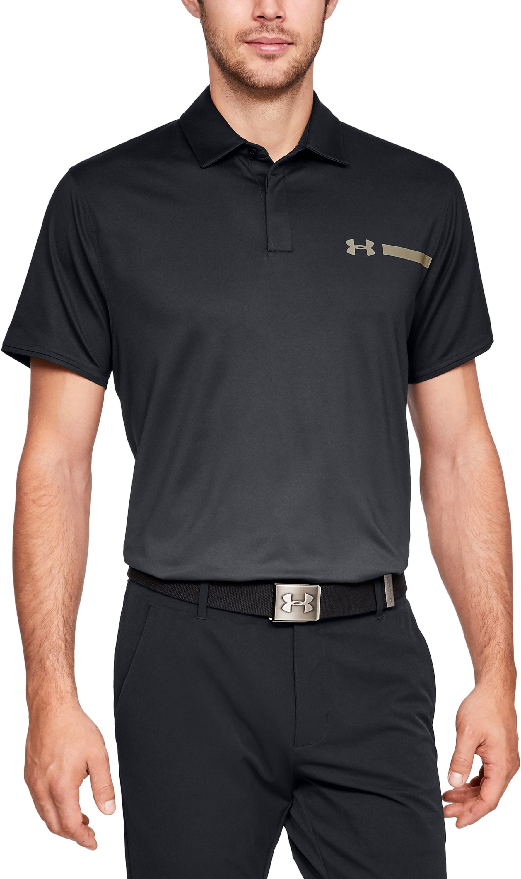 Men's UA Perpetual Fade Polo, Black