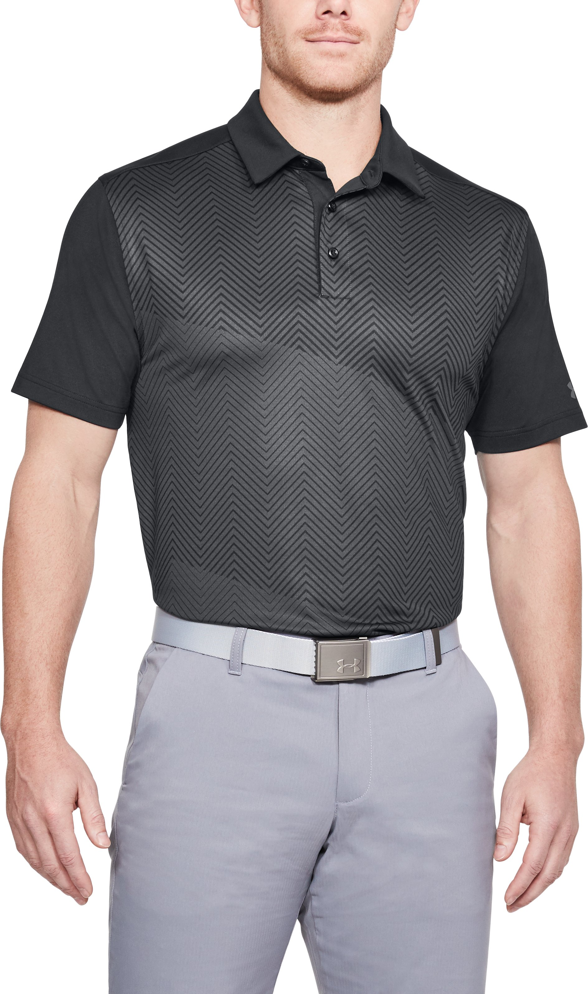 Men's UA Flawless Polo, Black ,