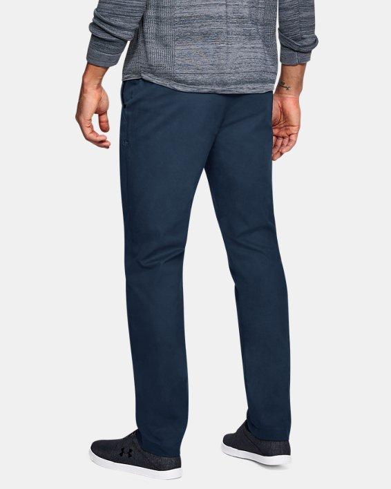 Men's UA Showdown Chino Tapered Pants, Navy, pdpMainDesktop image number 2
