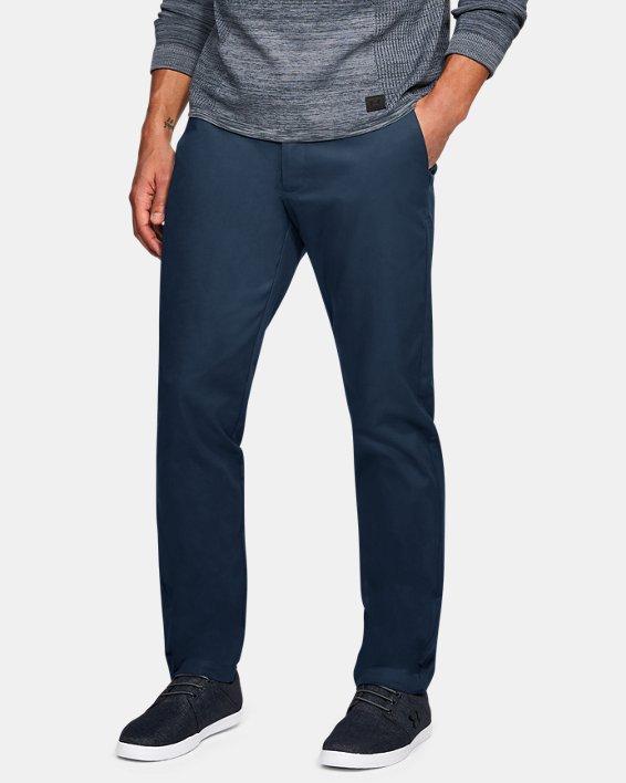 Men's UA Showdown Chino Tapered Pants, Navy, pdpMainDesktop image number 0