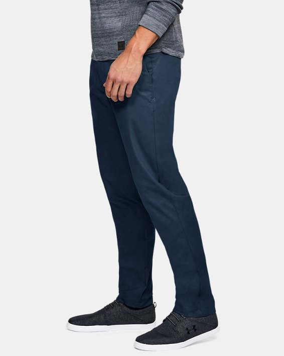 Men's UA Showdown Chino Tapered Pants, Navy, pdpMainDesktop image number 3