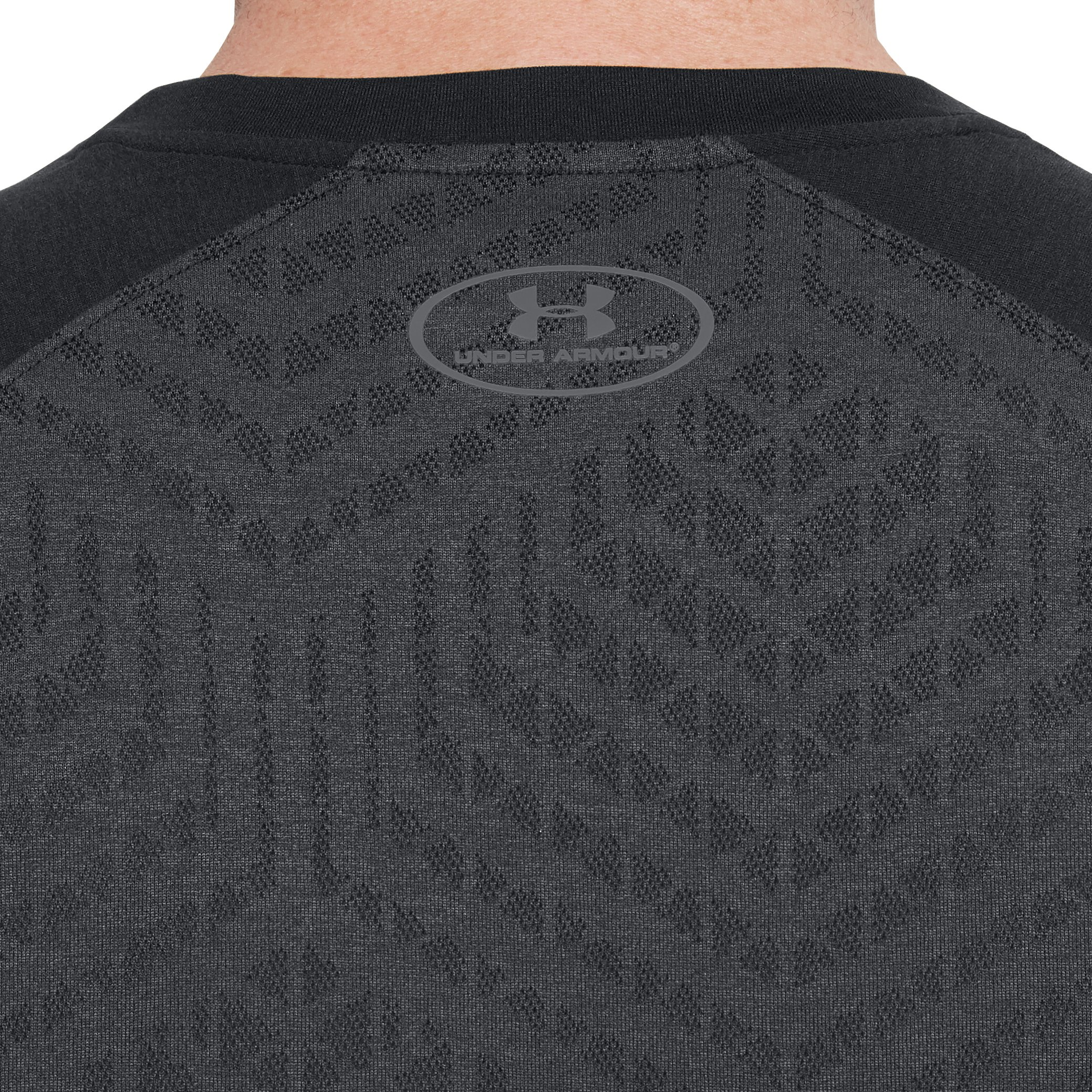 Men's UA Accelerate Training Short Sleeve, Black , undefined