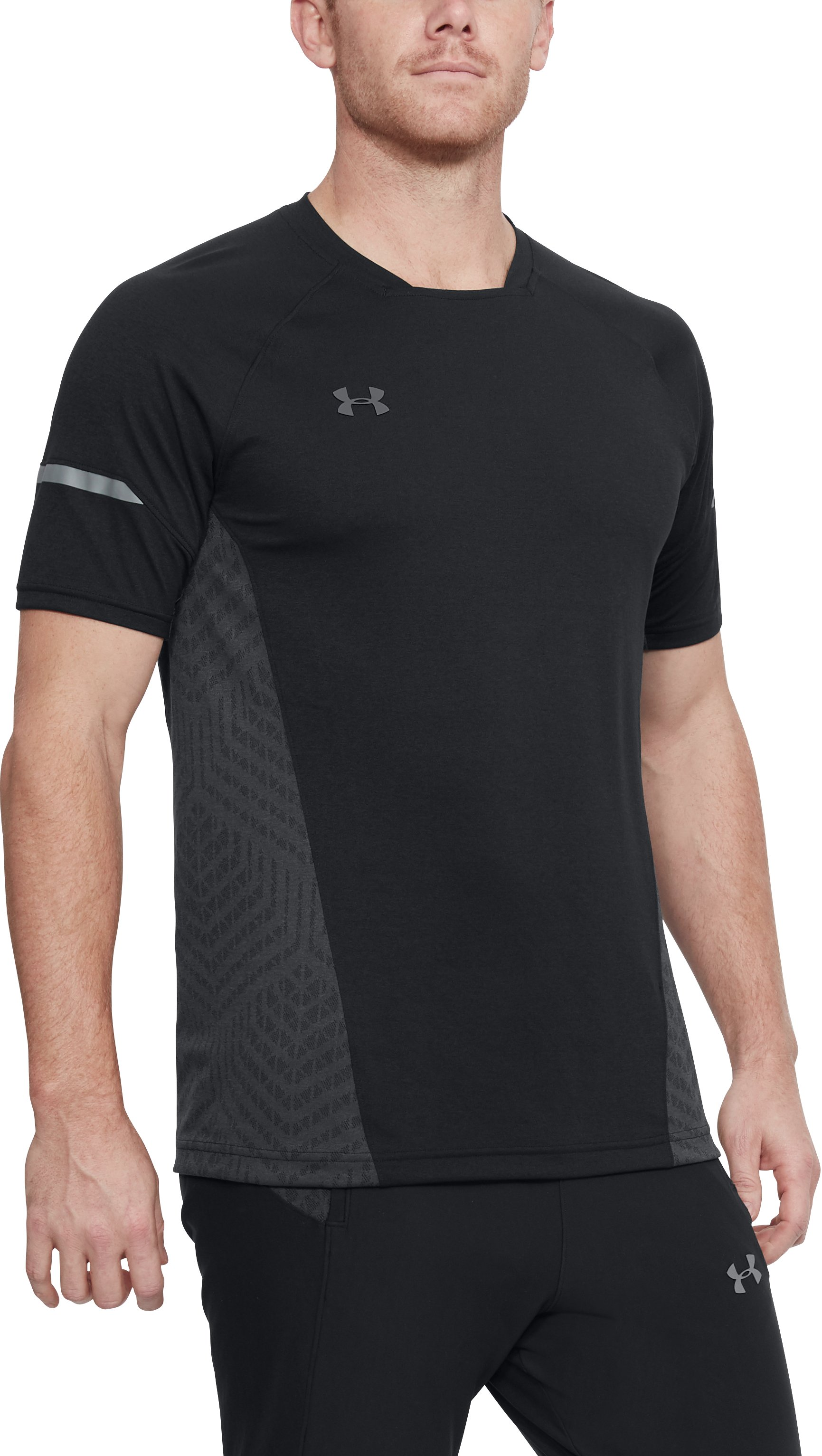 Men's UA Accelerate Training Short Sleeve, Black