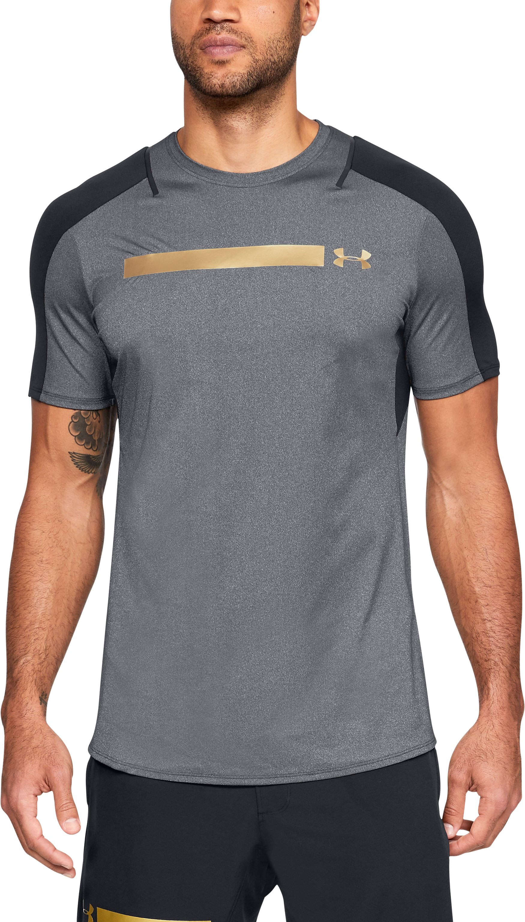 Men's UA Perpetual Fitted Short Sleeve, Black , undefined