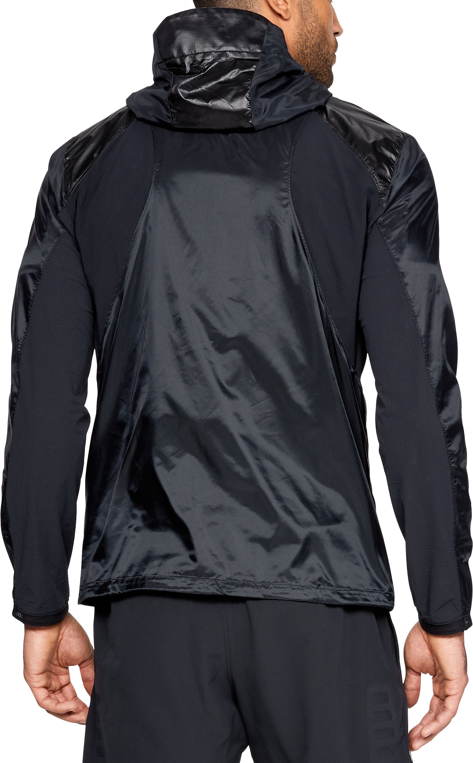 Men's UA Perpetual Full Zip Jacket, Black ,