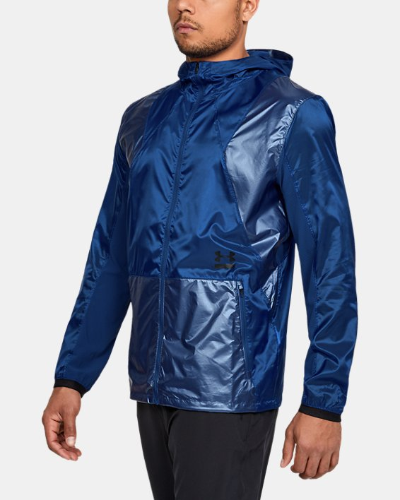 Men's UA Perpetual Full Zip Jacket, Blue, pdpMainDesktop image number 0