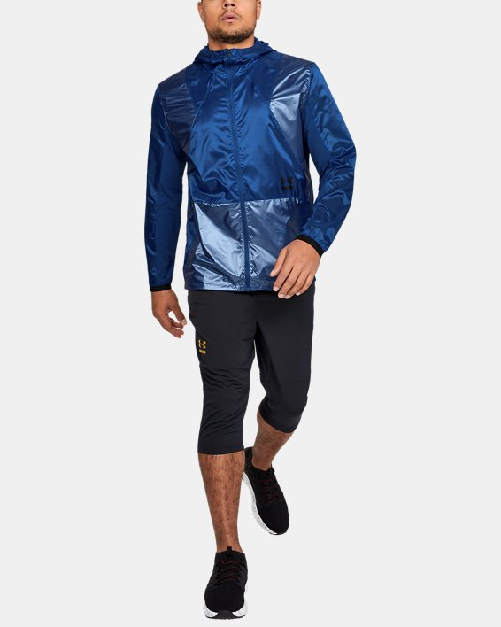 Men's UA Perpetual Full Zip Jacket, Blue, pdpMainDesktop image number 1