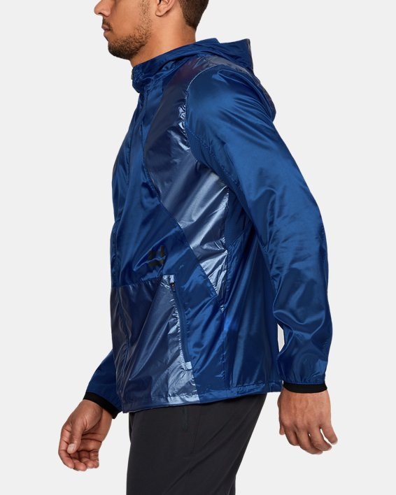 Men's UA Perpetual Full Zip Jacket, Blue, pdpMainDesktop image number 3