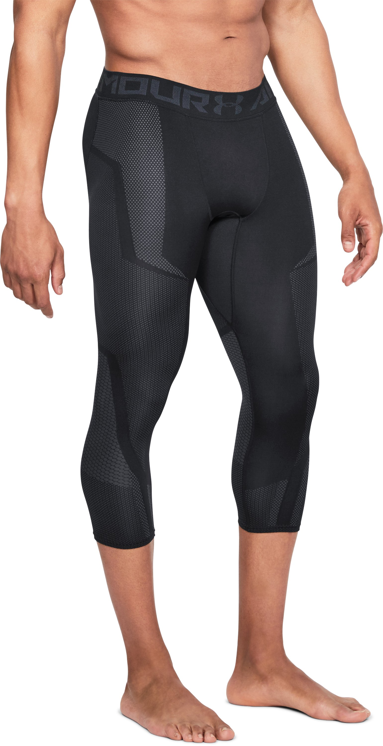 Men's UA Seamless ¾ Leggings, Black