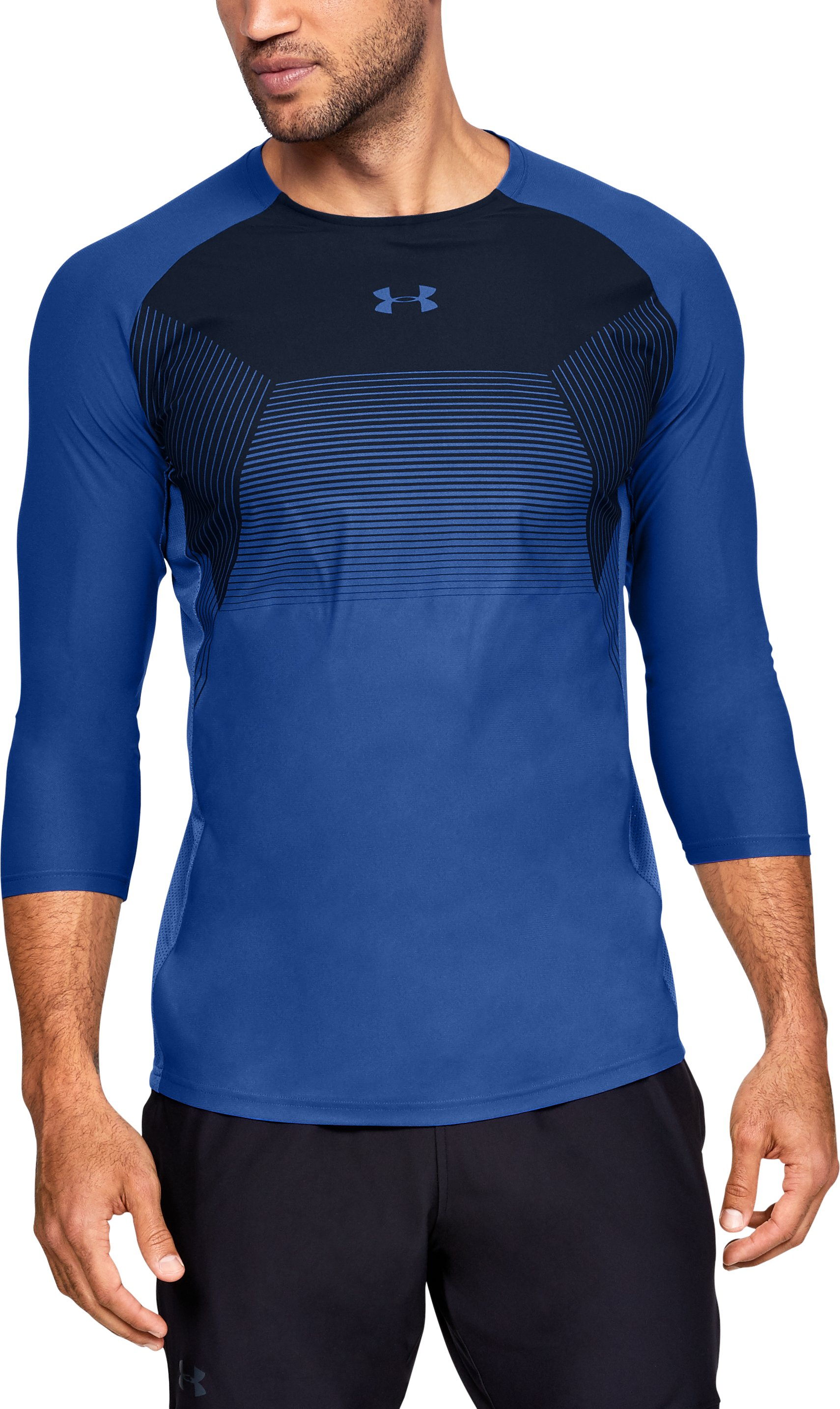 Men's UA Vanish ¾ Sleeve, JUPITER BLUE