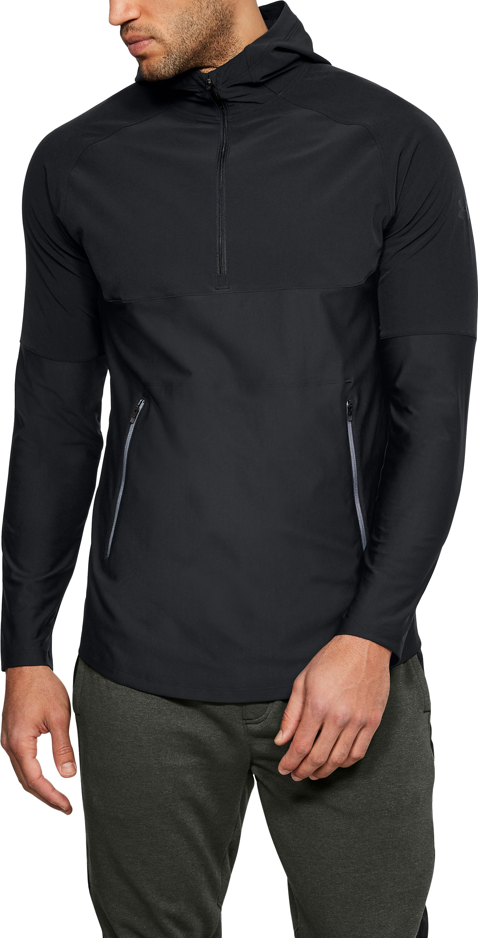 Men's UA Vanish Popover, Black