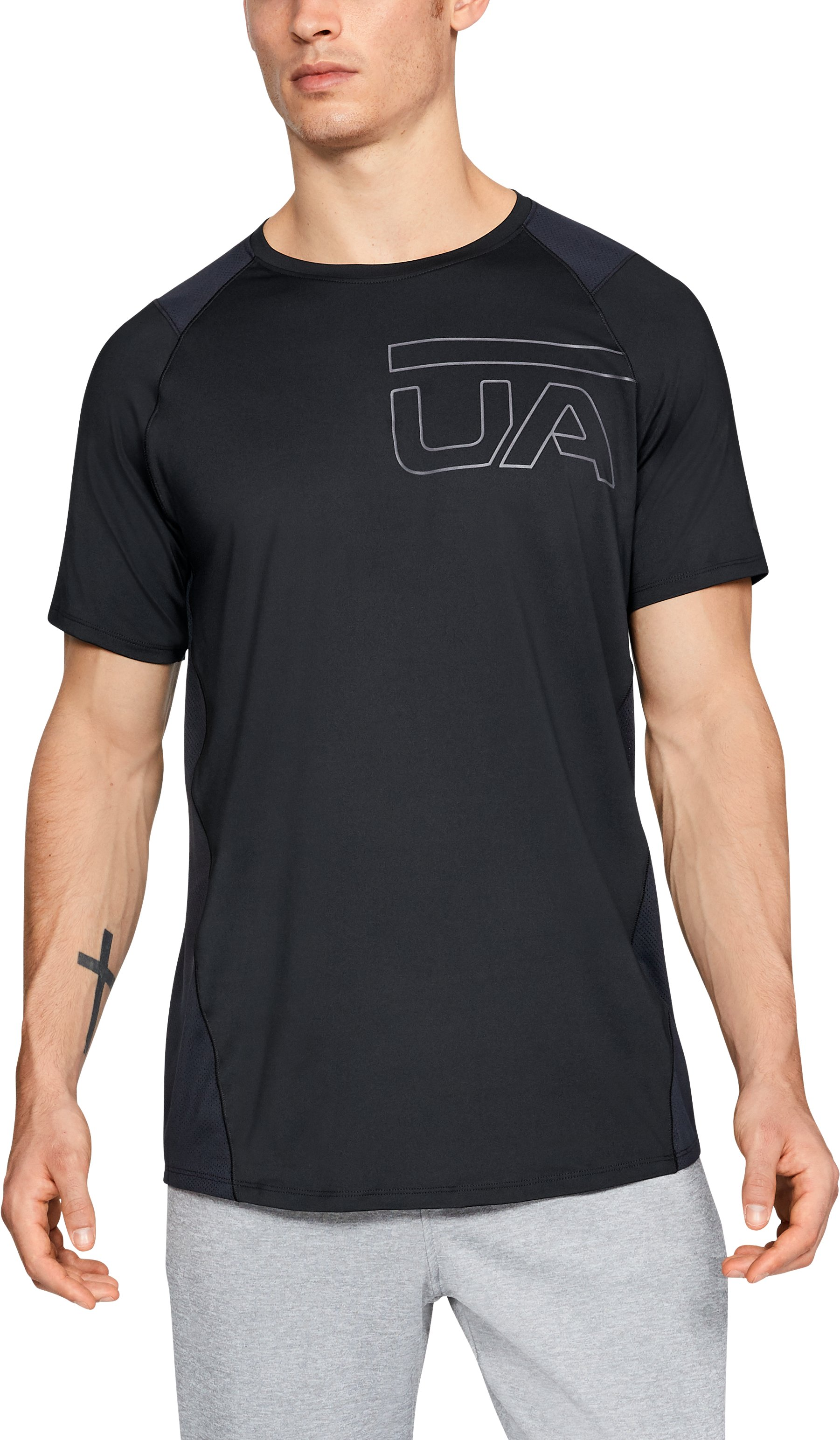 Men's UA MK-1 Graphic Short Sleeve, Black ,