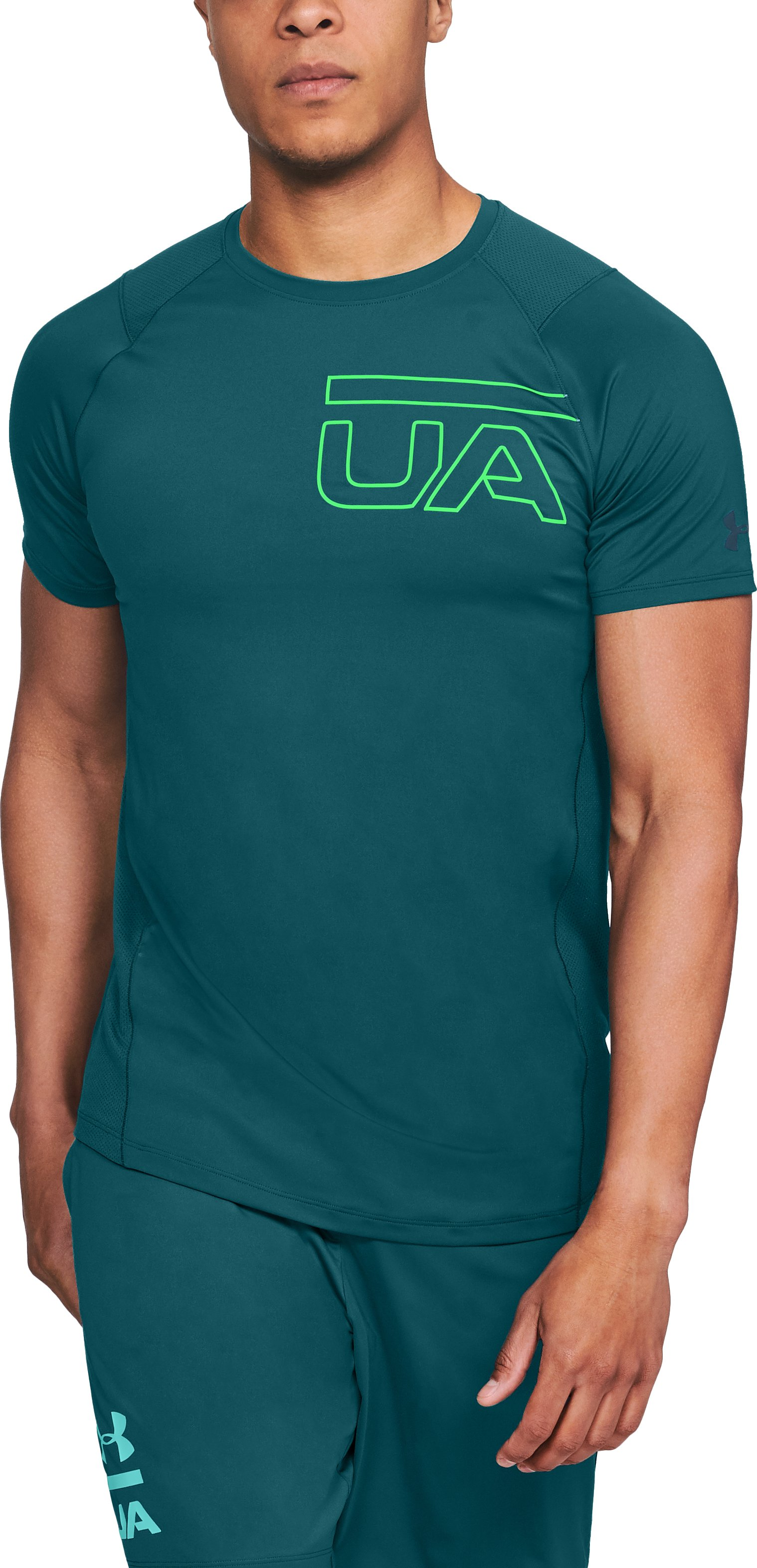 Men's UA MK-1 Graphic Short Sleeve, TOURMALINE TEAL