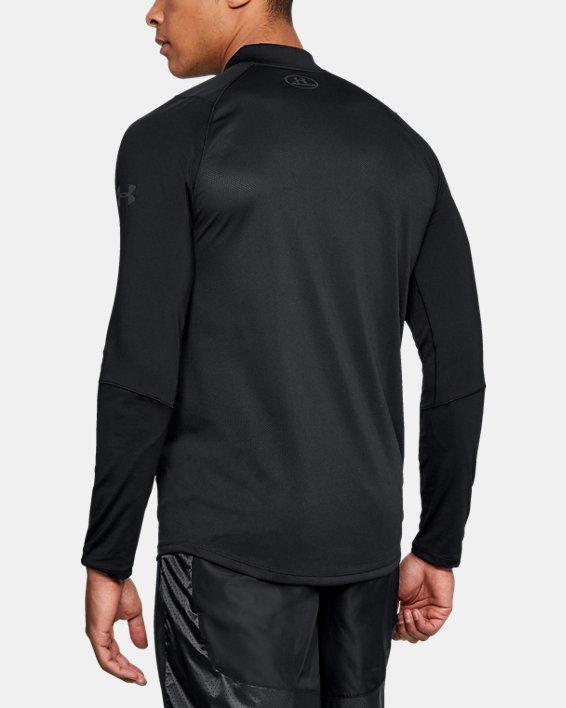 Men's UA MK-1 ¼ Zip, Black, pdpMainDesktop image number 2