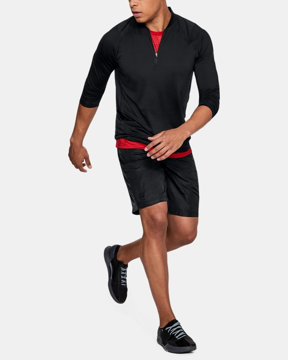 Men's UA MK-1 ¼ Zip, Black, pdpMainDesktop image number 1