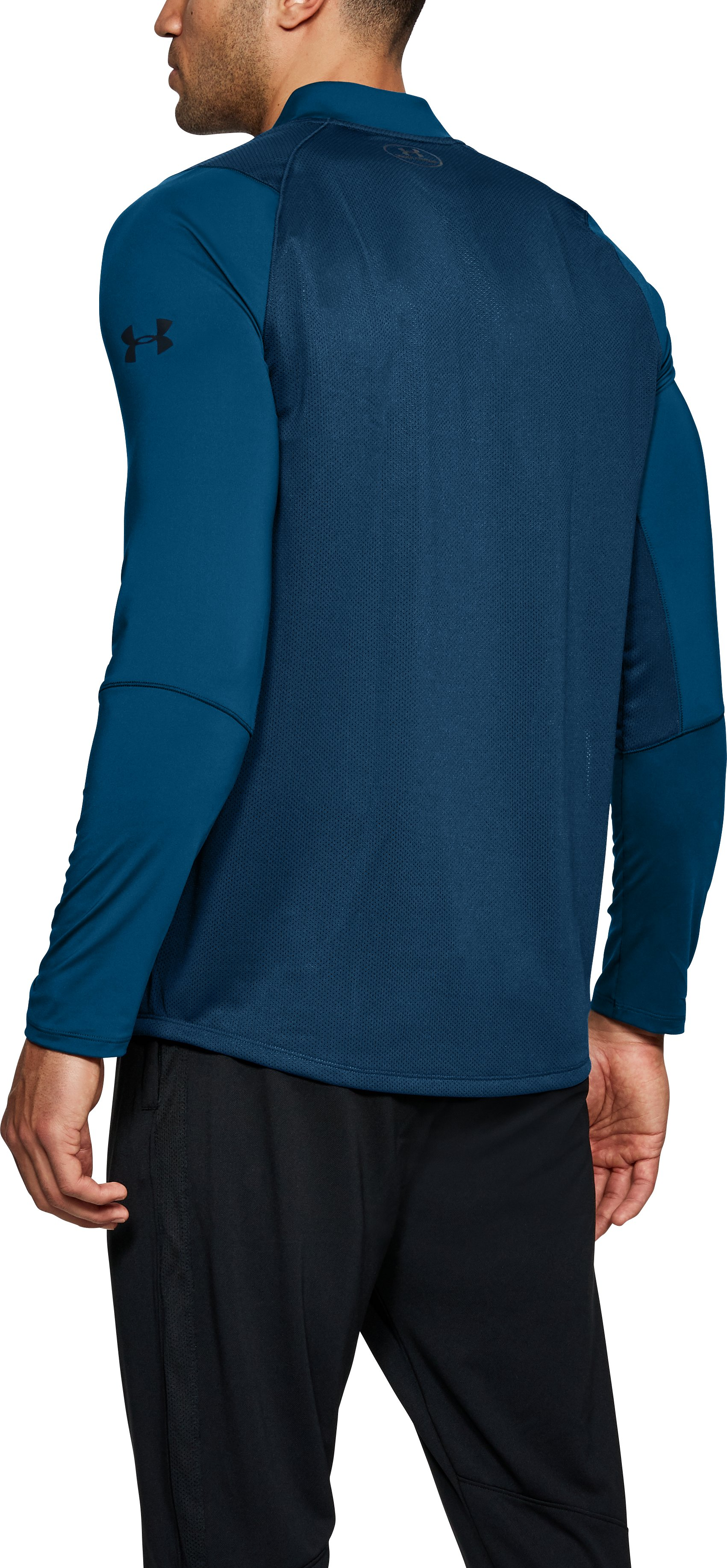 Men's UA MK-1 ¼ Zip, MOROCCAN BLUE,