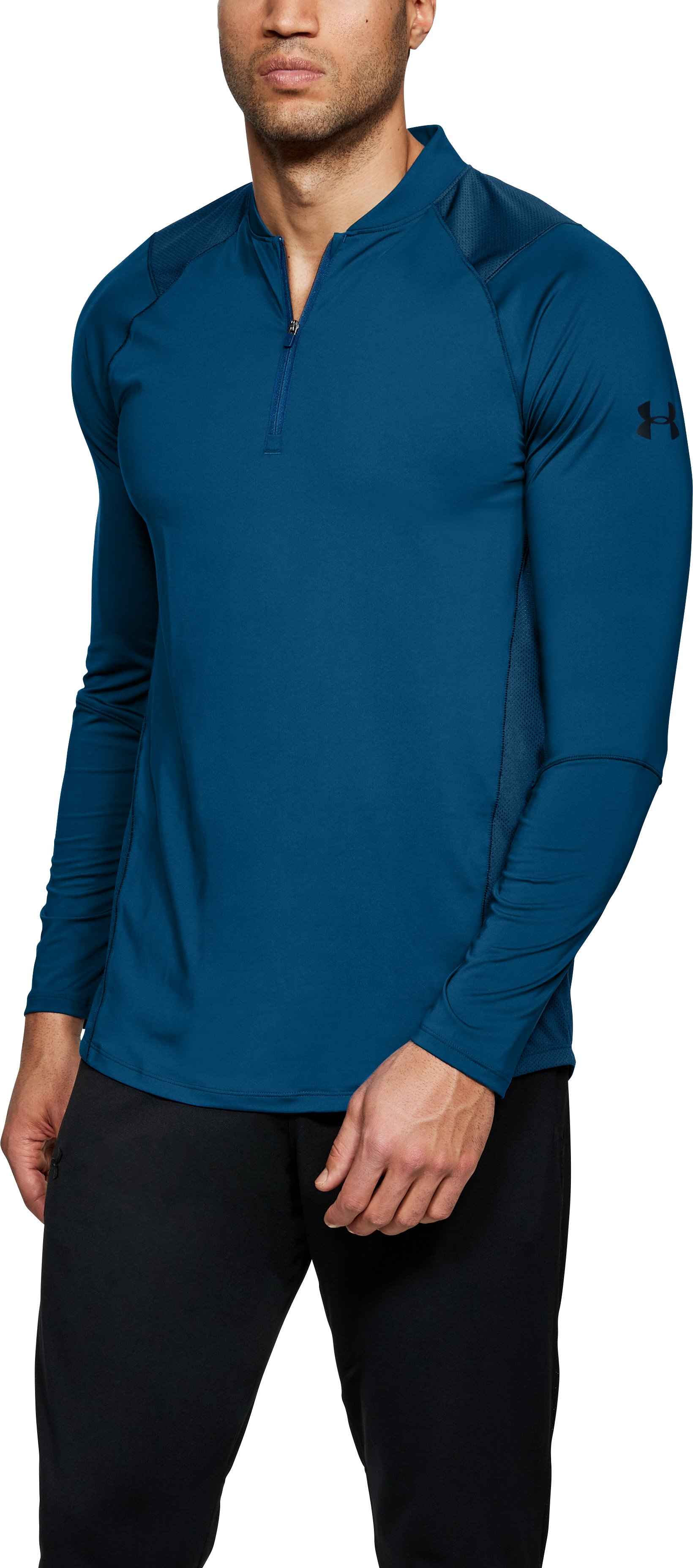 Men's UA MK-1 ¼ Zip, MOROCCAN BLUE