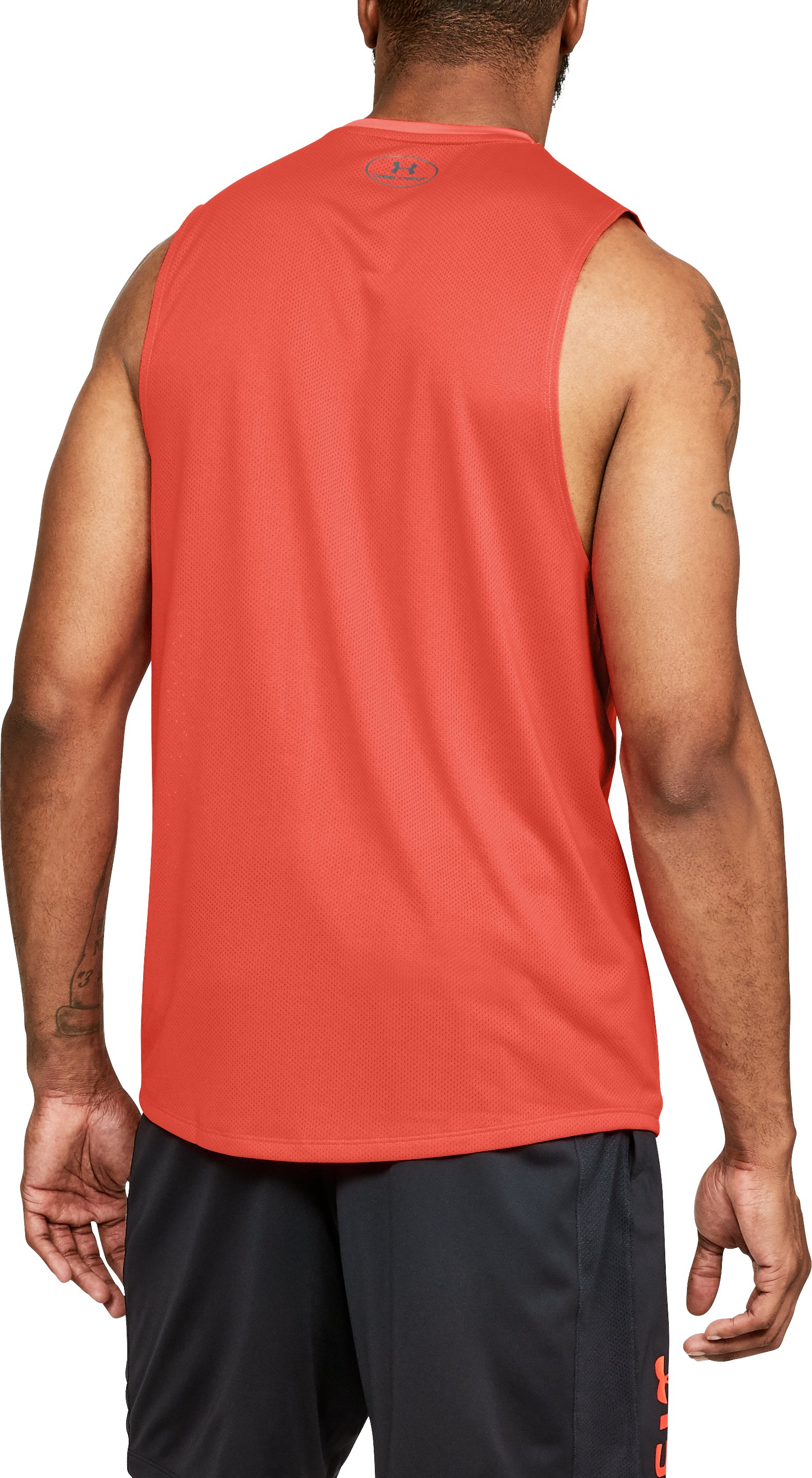 Men's UA MK-1 Sleeveless, NEON CORAL,