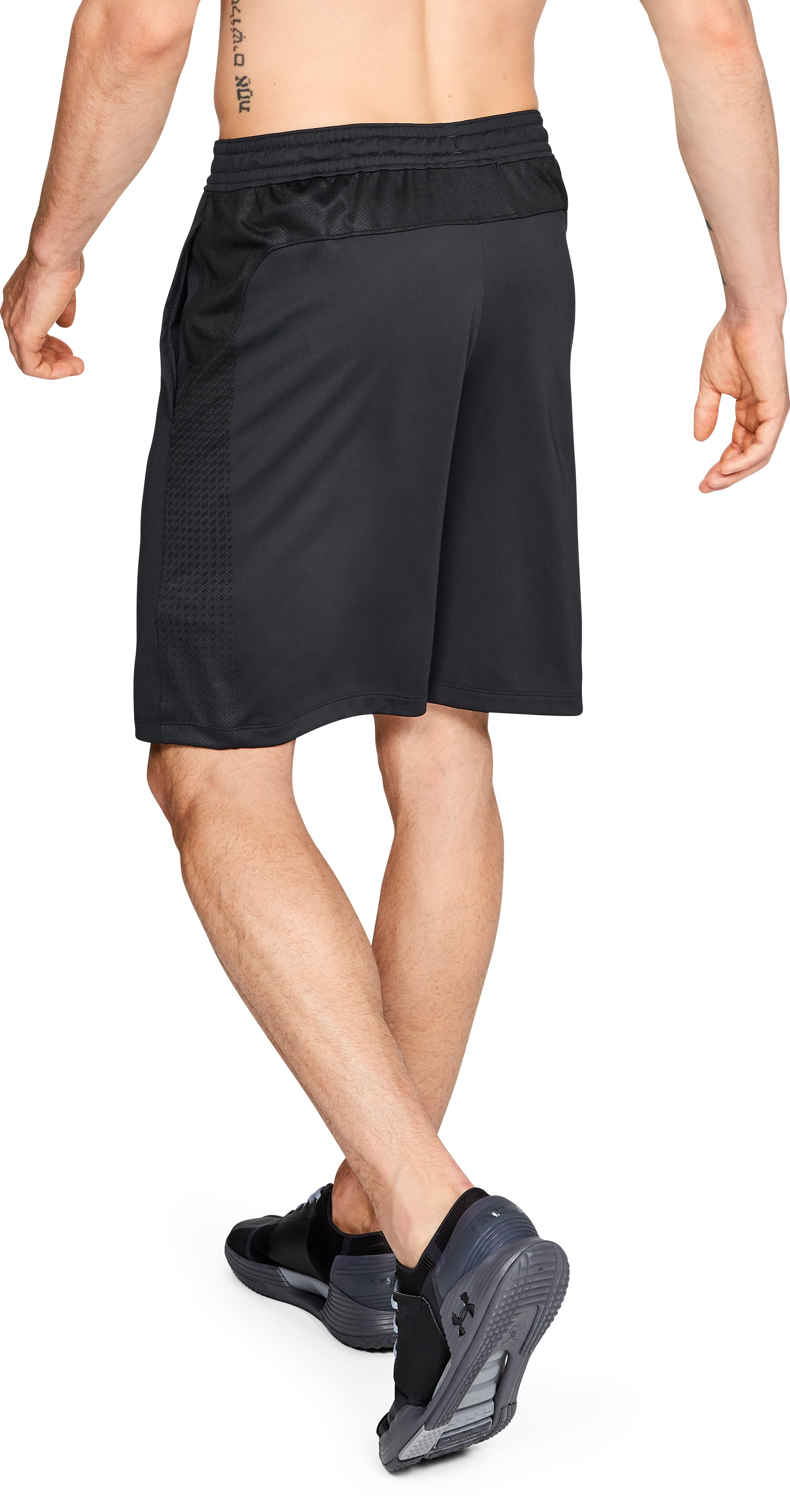 Men's UA MK-1 Patterned Shorts, Black ,